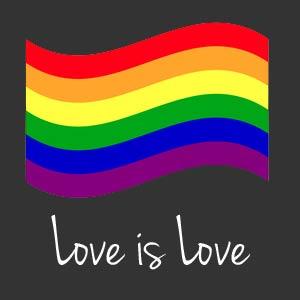 LGBTQ+ Friendly business badge.