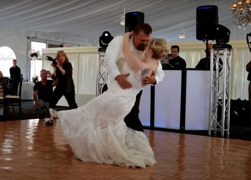 Anthony & Wendy's first dance.